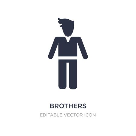 brothers icon on white background. Simple element illustration from People concept. brothers icon symbol design. Stock Illustratie