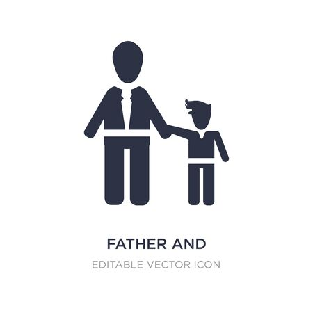 father and daughter icon on white background. Simple element illustration from People concept. father and daughter icon symbol design.
