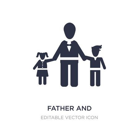 father and children icon on white background. Simple element illustration from People concept. father and children icon symbol design.