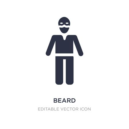 beard icon on white background. Simple element illustration from People concept. beard icon symbol design. Stock Illustratie