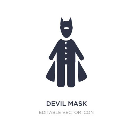 devil mask icon on white background. Simple element illustration from People concept. devil mask icon symbol design. Stock Illustratie