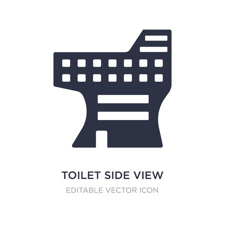 toilet side view icon on white background. Simple element illustration from Buildings concept. toilet side view icon symbol design.