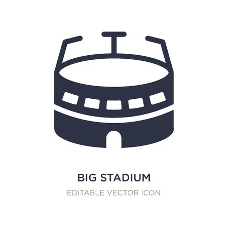 big stadium icon on white background. Simple element illustration from Buildings concept. big stadium icon symbol design.