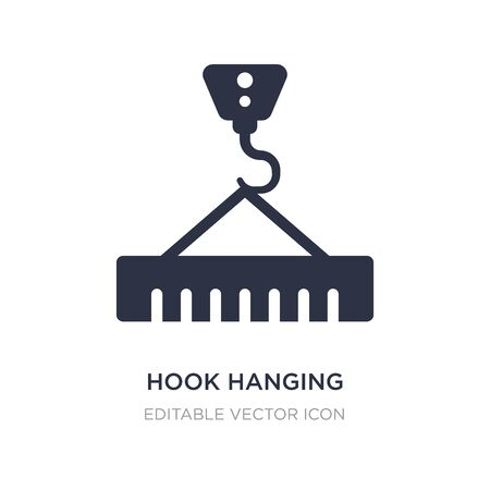 hook hanging material icon on white background. Simple element illustration from Buildings concept. hook hanging material icon symbol design. Stock Illustratie
