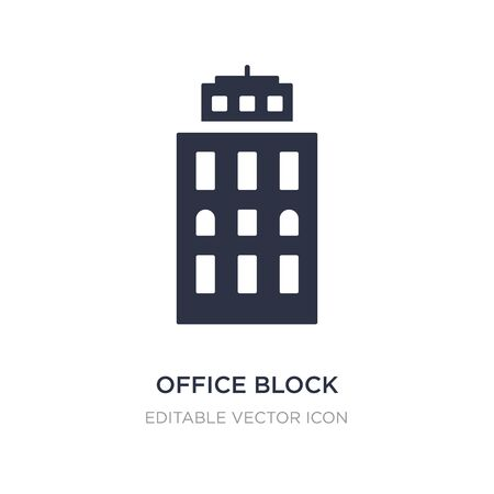 office block icon on white background. Simple element illustration from Buildings concept. office block icon symbol design.