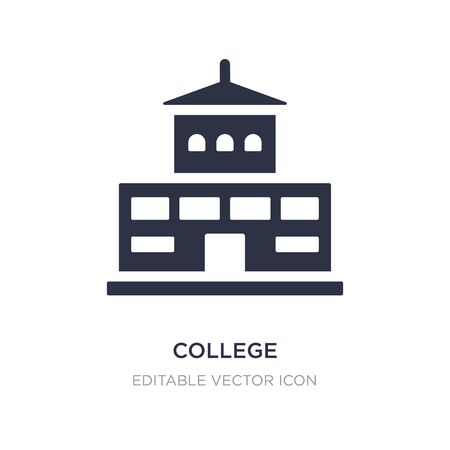 college icon on white background. Simple element illustration from Buildings concept. college icon symbol design.
