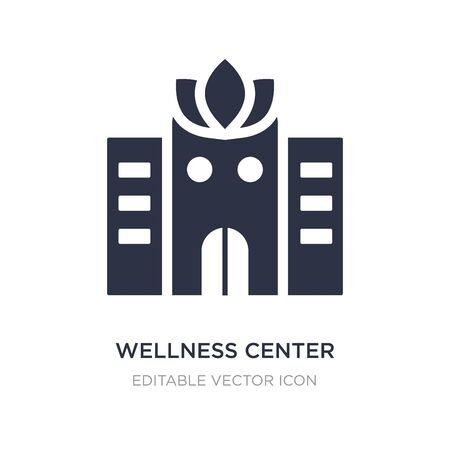wellness center icon on white background. Simple element illustration from Buildings concept. wellness center icon symbol design.