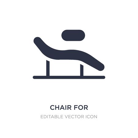 chair for treatments icon on white background. Simple element illustration from Buildings concept. chair for treatments icon symbol design.