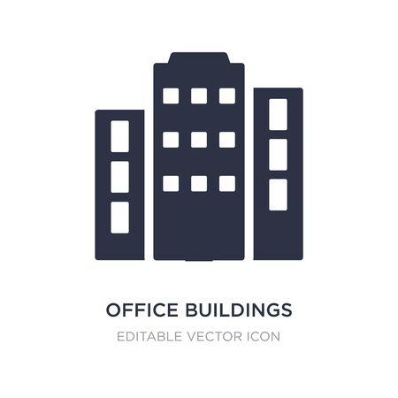 office buildings icon on white background. Simple element illustration from Buildings concept. office buildings icon symbol design.