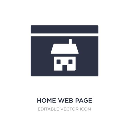 home web page icon on white background. Simple element illustration from Buildings concept. home web page icon symbol design.