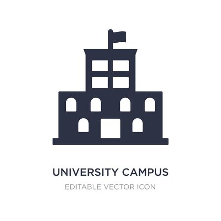 university campus icon on white background. Simple element illustration from Buildings concept. university campus icon symbol design. Stock Illustratie