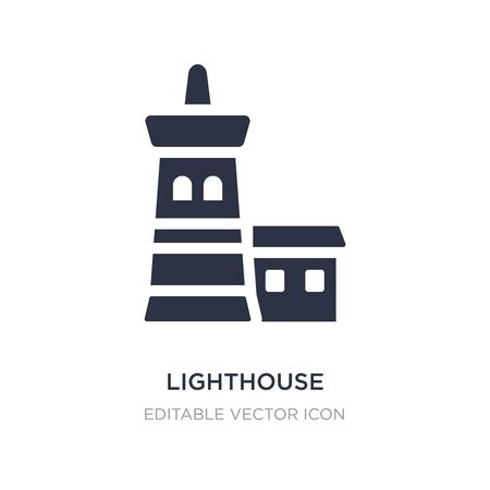 lighthouse icon on white background. Simple element illustration from Buildings concept. lighthouse icon symbol design.