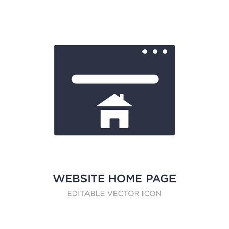 website home page icon on white background. Simple element illustration from Buildings concept. website home page icon symbol design. 일러스트