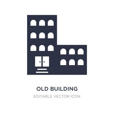 old building icon on white background. Simple element illustration from Buildings concept. old building icon symbol design.