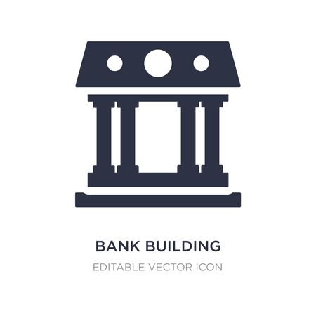 bank building icon on white background. Simple element illustration from Buildings concept. bank building icon symbol design.