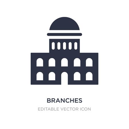 branches icon on white background. Simple element illustration from Buildings concept. branches icon symbol design.