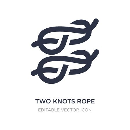 two knots rope icon on white background. Simple element illustration from General concept. two knots rope icon symbol design.