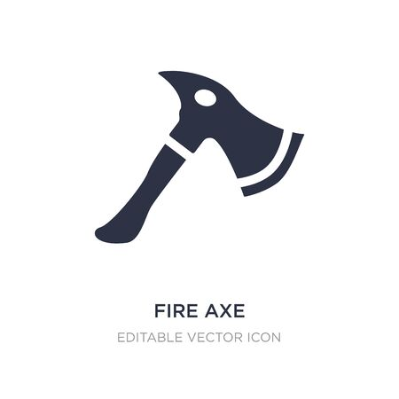 fire axe icon on white background. Simple element illustration from General concept. fire axe icon symbol design.