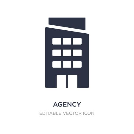 agency icon on white background. Simple element illustration from Buildings concept. agency icon symbol design. Stock Illustratie