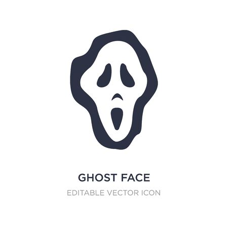 ghost face icon on white background. Simple element illustration from General concept. ghost face icon symbol design. Stock Illustratie