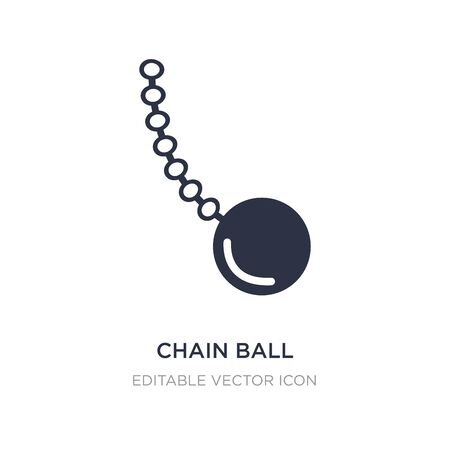 chain ball icon on white background. Simple element illustration from General concept. chain ball icon symbol design.