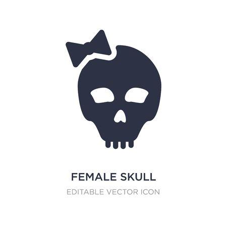 female skull icon on white background. Simple element illustration from General concept. female skull icon symbol design.