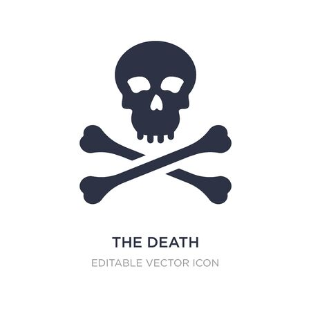 the death icon on white background. Simple element illustration from General concept. the death icon symbol design.