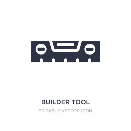 builder tool icon on white background. Simple element illustration from Buildings concept. builder tool icon symbol design. Stock Illustratie