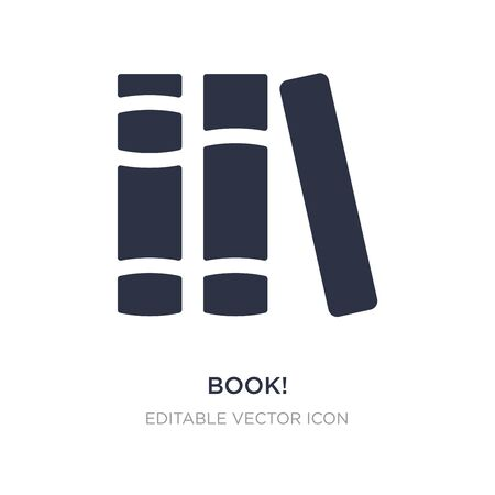 book! icon on white background. Simple element illustration from General concept. book! icon symbol design. Stock Illustratie