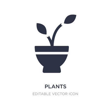 plants icon on white background. Simple element illustration from Buildings concept. plants icon symbol design. Stock Illustratie