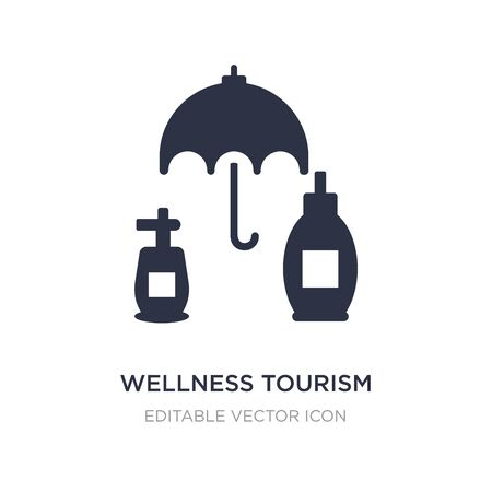 wellness tourism icon on white background. Simple element illustration from General concept. wellness tourism icon symbol design.