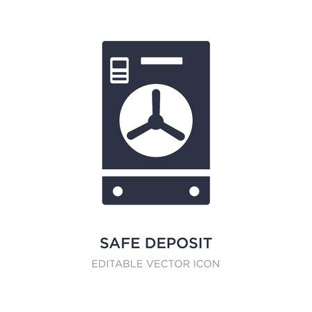 safe deposit icon on white background. Simple element illustration from General concept. safe deposit icon symbol design.