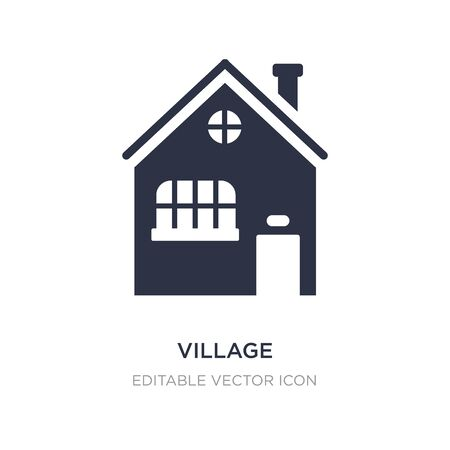 village icon on white background. Simple element illustration from Buildings concept. village icon symbol design.