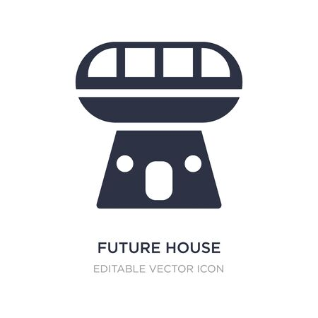 future house icon on white background. Simple element illustration from Buildings concept. future house icon symbol design.