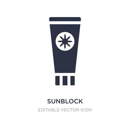sunblock icon on white background. Simple element illustration from General concept. sunblock icon symbol design.
