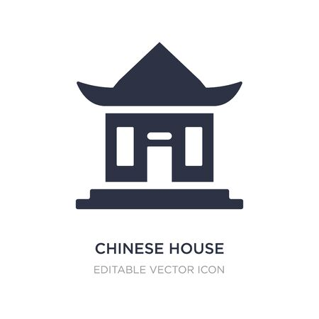 chinese house icon on white background. Simple element illustration from Buildings concept. chinese house icon symbol design. Stock Illustratie