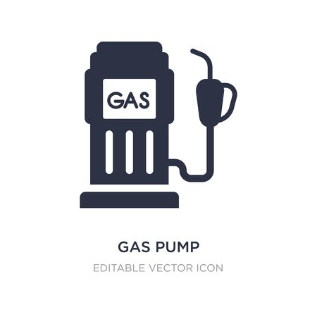 gas pump icon on white background. Simple element illustration from General concept. gas pump icon symbol design.