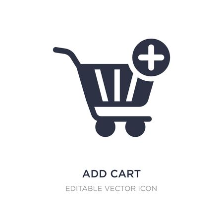 add cart icon on white background. Simple element illustration from General concept. add cart icon symbol design. Stock Illustratie