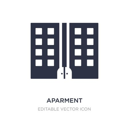 aparment icon on white background. Simple element illustration from Buildings concept. aparment icon symbol design.