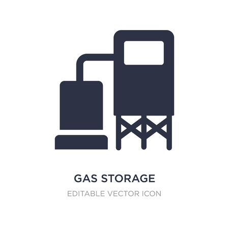 gas storage icon on white background. Simple element illustration from General concept. gas storage icon symbol design.