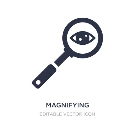 magnifying glass searcher icon on white background. Simple element illustration from General concept. magnifying glass searcher icon symbol design.