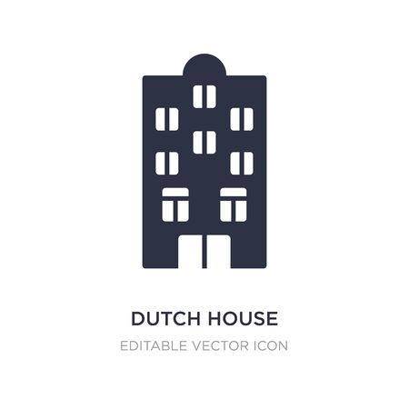 dutch house icon on white background. Simple element illustration from Buildings concept. dutch house icon symbol design.