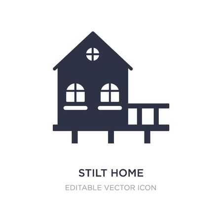 stilt home icon on white background. Simple element illustration from Buildings concept. stilt home icon symbol design.