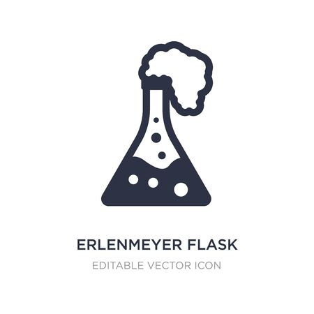 erlenmeyer flask icon on white background. Simple element illustration from General concept. erlenmeyer flask icon symbol design. Stock Illustratie