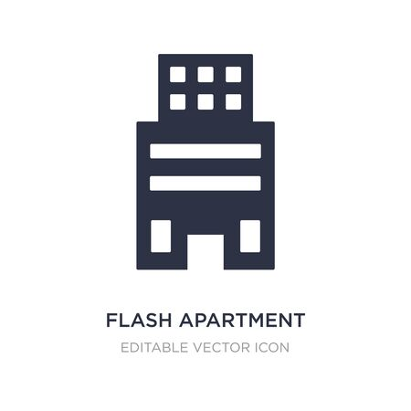 flash apartment icon on white background. Simple element illustration from Buildings concept. flash apartment icon symbol design. Stock Illustratie
