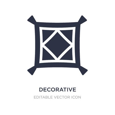 decorative cushions icon on white background. Simple element illustration from Buildings concept. decorative cushions icon symbol design.