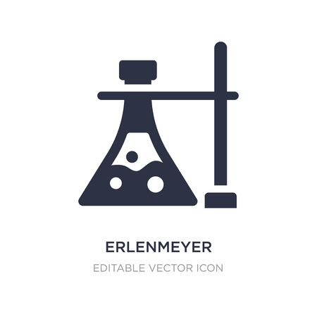 erlenmeyer flask and bracket icon on white background. Simple element illustration from General concept. erlenmeyer flask and bracket icon symbol design. Stock Illustratie