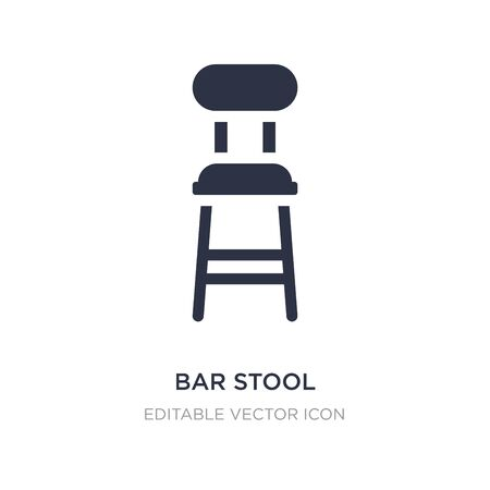 bar stool icon on white background. Simple element illustration from Buildings concept. bar stool icon symbol design. Illustration