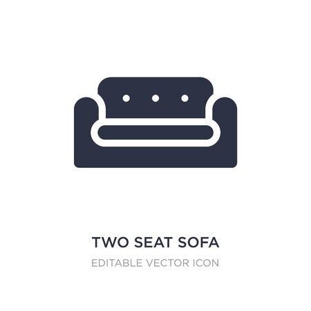 two seat sofa icon on white background. Simple element illustration from Buildings concept. two seat sofa icon symbol design.