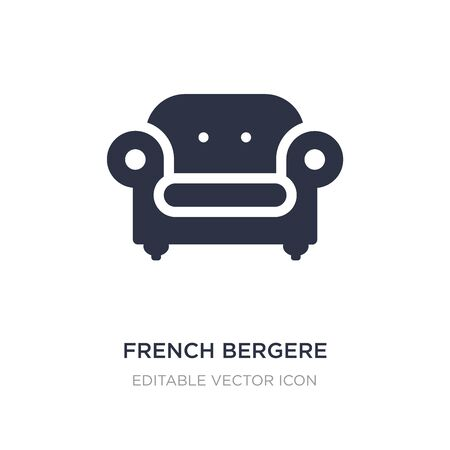 french bergere icon on white background. Simple element illustration from Buildings concept. french bergere icon symbol design.